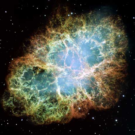 Crab Nebula from hubble composite